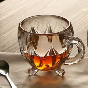 210ml Crystal Glass Tea Coffee Water Cup Transparent Glasses cup Mug with Handle