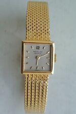 Patek philippe Lady's square dial, 18K gold bracelet watch, manual, Excellent