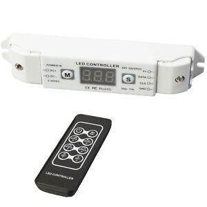 SPI LED controller, Chase effect control + remote for SPI Dream color LED light