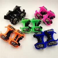 New Adult Heel Jetts Wheels Skates Roller Shoes Adjustable Kids Falsh Blade Shoe