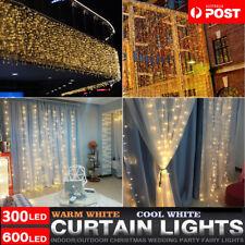 300/600/880 LED Curtain Fairy Lights Wedding Indoor Outdoor Xmas Garden Party AU