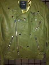 Hudson Outerwear Leather Jacket Brand New with Tags Size Small in Olive Green!