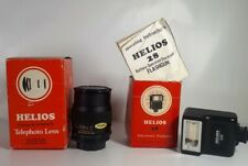 Vintage HELIOS 135mm 2.8 MC Telephoto Portrait Lens for M42 & 28 flashgun
