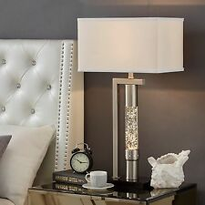 Tiffany Style Table Lamp Dancing Water White Rectangular Contemporary Home Decor