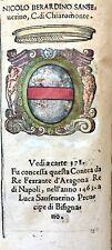 1586 ARALDICA STEMMA NICOLÒ BERARDINO SANSEVERINO Conte Chiaromonte Regno Napoli