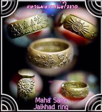 Thai Amulet Maha Sane Jaikhad Ring Phra Arjarn O, Real Magic Luck Love Charm