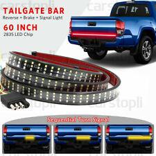 "432 LED 60"" 3-Row Truck Car Strip Tailgate Light Bar Reverse Brake Signal Lamp"
