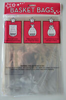 Cellophane Hamper Wrap Basket Wrap Large Basket Bag Pack of 2 Hamper Gift Bags