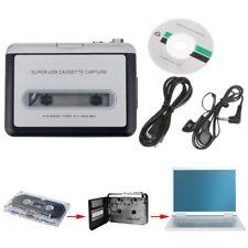 Portable Mini-USB Audio Recorders Cassette Tape Converter For MP3 CD Players PC