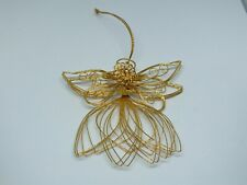 Collectible Holiday Christmas Angel Ornament Handmade? Wire Faux Peal Dangle Sta