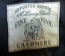LARGE Vtg 50's Mens CASHMERE/WOOL BLACK EVENING FORMAL OVERCOAT sz 42 union made