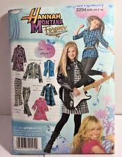 Simplicity Pattern 2294 Sizes 8-16 Girl Shirt Pants Jacket Disney Hannah Montana
