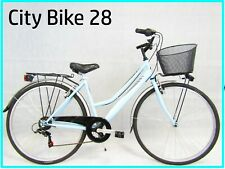 Bicycle for Women's Bike Mens Walk City Bike 28 Trekking Blue 6v