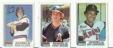 Vintage 1982 TOPPS Cartes De Base-ball-California Angels-MLB