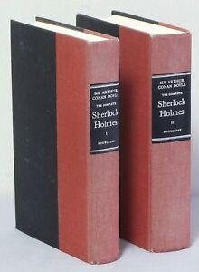 2 Sir Arthur Conan Doyle HB books - The Complete Sherlock Holmes 1 & 2