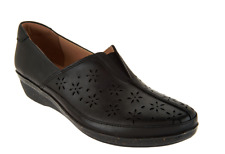 Clarks Leather Perforated Slip-ons Everlay Dairyn Black Women's 9 Store Display