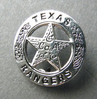 US ARMY RANGER TEXAS RANGERS SILVER COLORED LAPEL PIN  BADGE 1 INCH