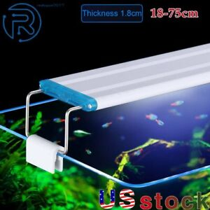 18-75CM Super Slim LED Aquarium Plant Lighting Extensible Clip on Lamp Fish Tank