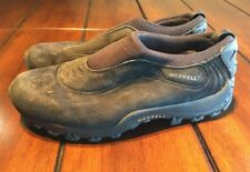 Merrell Chameleon Thermo Moc Kids Juniors 6.5 Slip On Black Shoes Suede