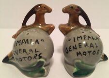 Vintage General Motors Impala Auto RARE Collectible Ceramic Salt & Pepper Shaker