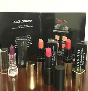 LOT of Mini Lipstick Bobbi Brown, BUXON, NAPOLEON PERDIS, D&G Card