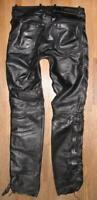 """"""" HIGHWAY 1 """" Schnür- LEDERJEANS / Biker- Lederhose in schwarz ca. W31"""" /L33"""""""