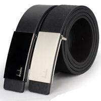 Fashion Mens Automatic Buckle Leather Belt Formal Waist Strap Belts Buckle Belt