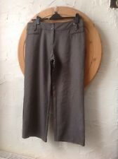 ***new***F& F  Classic Size 16S (44) easy care Brown Herringbone Trousers👖