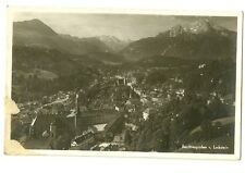 Berchtesgaen German Bavarian Alps Black and White Postcard