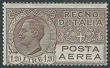1926-28 REGNO POSTA AEREA EFFIGIE 1,20 LIRE MH * - E72