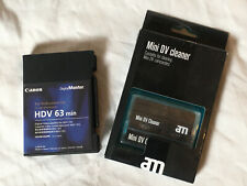 Canon HDV Mini DV Digital master 63 min + AM Cleaning tape