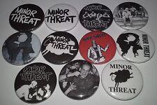 11 Minor Threat pin button badges 25mm punk rock DC Hardcore Dischord Ian Mackay