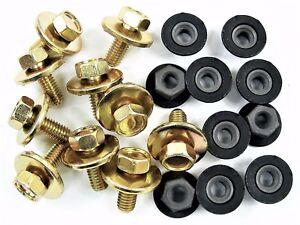 Mopar Body Bolts & Barbed Nuts- M6-1.0 x 16mm Long- 10mm Hex- 20 pcs (10ea) #384