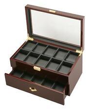Diplomat Twenty Watch Storage Display Organizer Chest Box Case Black Interior