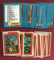 1983 Topps THE A-TEAM COMPLETE SET 66 CARDS nm to mint WITH STICKERS
