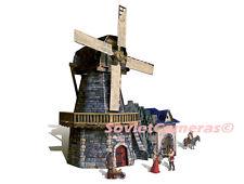 Building WINDMILL Medieval Town Wargame Terrain Scenery 3D Cardboard Model Kit