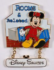 Disney Pin: WDW Disney Salutes - Rooms & Related Cast Exclusive