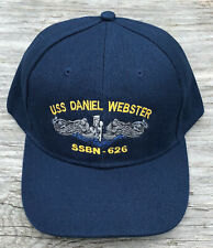 USS Daniel Webster SSBN-626 Ball Cap Submarine Dolphins FBM Veteran Navy Vet Hat