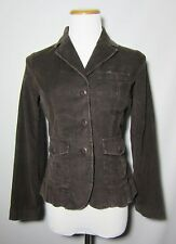 Talbots Stretch Petite Corduroy Blazer Jacket Size 4P Brown Elbow Patch