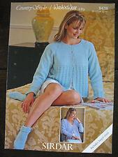"Sirdar Knitting Pattern: Ladies Bedjackets & Bedsocks, 4ply, 32-54"", 8438"