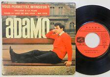 ADAMO 45 EP Vous Permettez, Monsieur? PRESENCE MONDIALE French PIC SLEEVE #D30