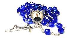 Gemma Umberta Galgani blue relic rosary for Students pharmacists tuberculosis