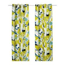 """IKEA Pair of Curtains Panels Abstract 57 x 98 """" Janette Green Panels Grommet NEW"""
