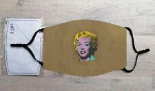 Gold Marilyn Monroe face mask (Pop Art, Andy Warhol)