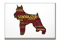 Schnauzer Dog Art Print Word Art A4 A3 Mothers Day Gift Personalised Option