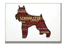 More details for schnauzer dog art print word art a4 a3 mothers day gift personalised option
