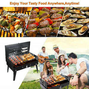 Portable Folding Charcoal BBQ Barbecue Grill Picnic Travel Camping Outdoor Stove