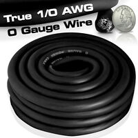 Black 12 Gauge Extension Cord 25 Ft 1/0 0 AWG UL Lighted Lit End Wire Cable