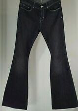 "J Brand Love Story Jeans WOMENS Size 29 FLARE DARK WASH BELL BOTTOM 9"" RISE ASH"