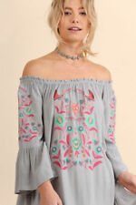 Vestiti da donna tuniche grigi floreale